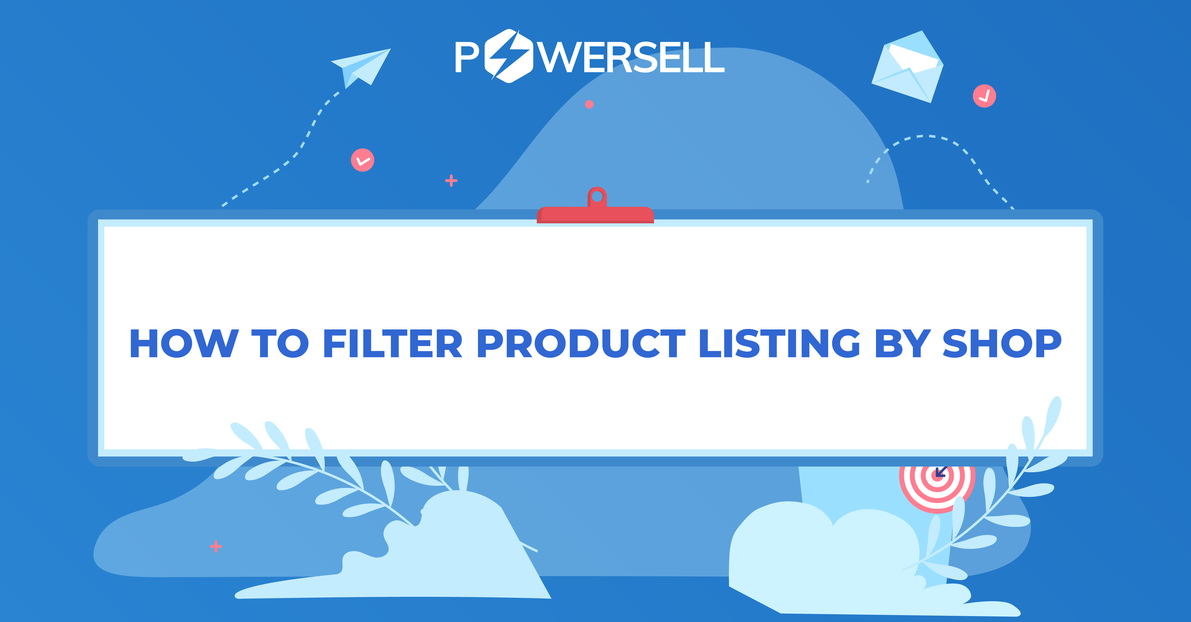How to filter product listing by shop